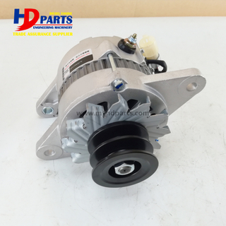 6BG1 Diesel Engine Alternator For Isuzu EX200-6 Hitachi Excavator Alternator 24V 50A