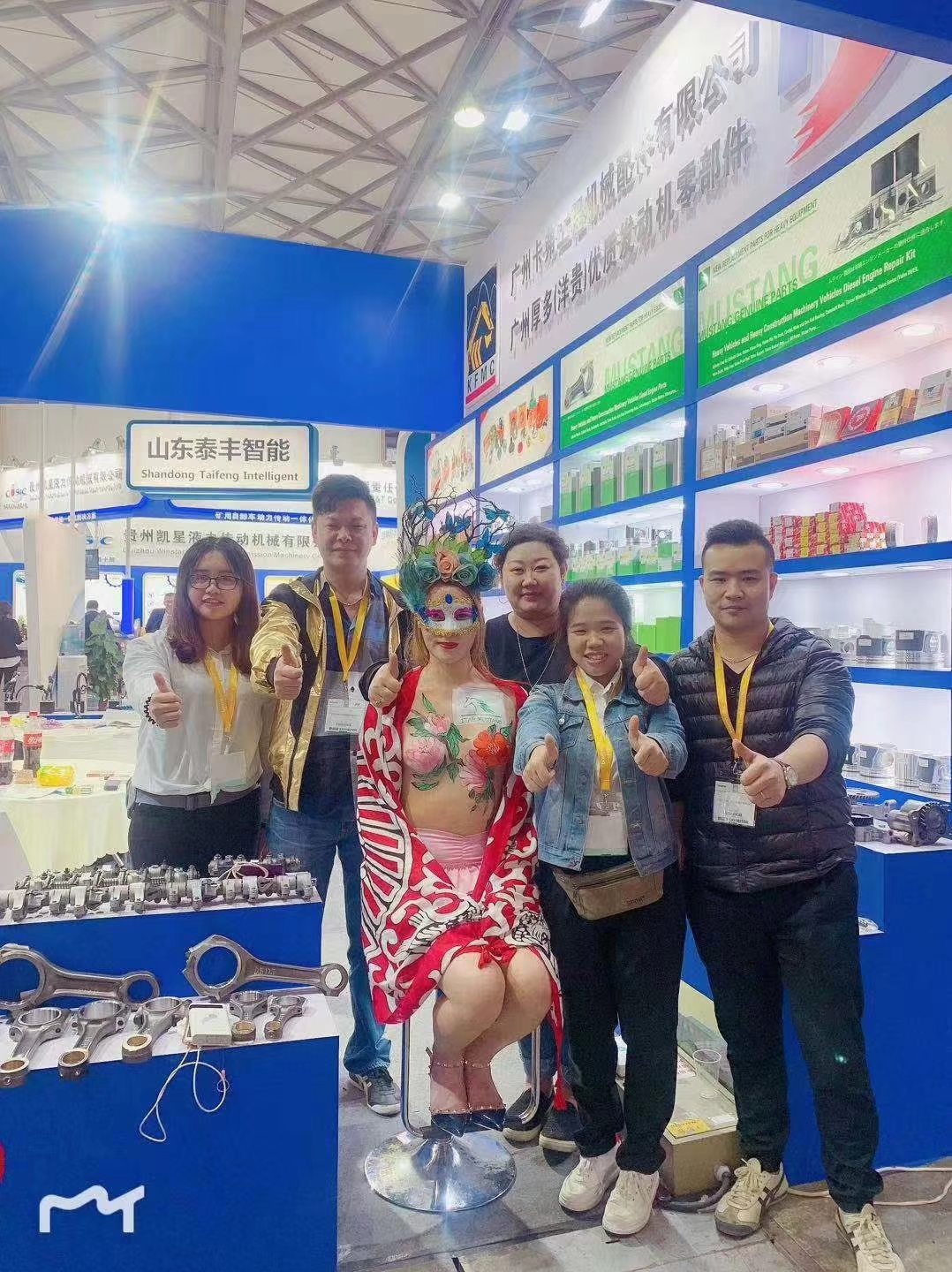 Shanghai Bauma Exhibition 2018 Heavy Machinery and Excavavtor Diesel Engine Spare Parts