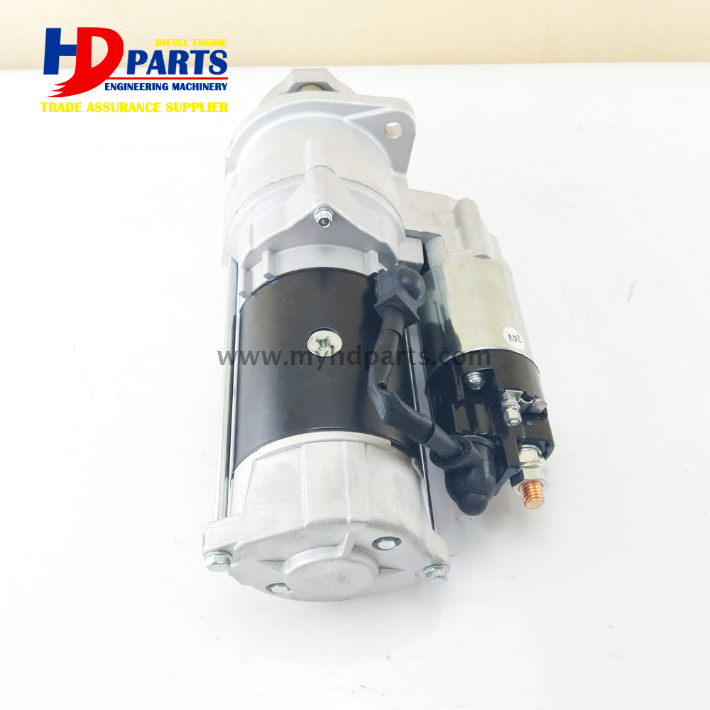 DE08 D1146 Engine Starter Motor For Daewoo Doosan Excavator Parts 24V 11T
