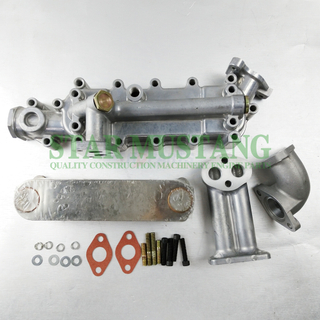 Construction Machinery Excavator H07C Oil Cooler Cover Assy Kit 8P Engine Repair Parts