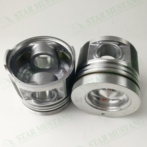 Construction Machinery Excavator Engine S4S Piston With Pin Alfin Chamber Size 53mm Oil Ring 4mm Repair Parts