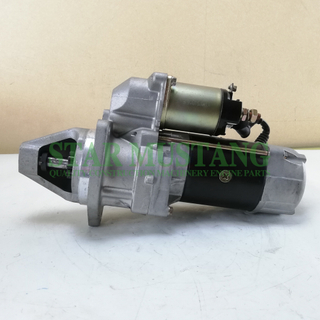 Construction Machinery Diesel Engine Spare Parts Excavator Starter Motor PE6 PD6 NE6 24V 11T 6.0KW