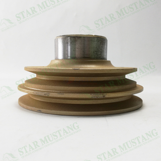 Construction Machinery Excavator 4TNV98 Crankshaft Pulley Double Slot Engine Repair Parts