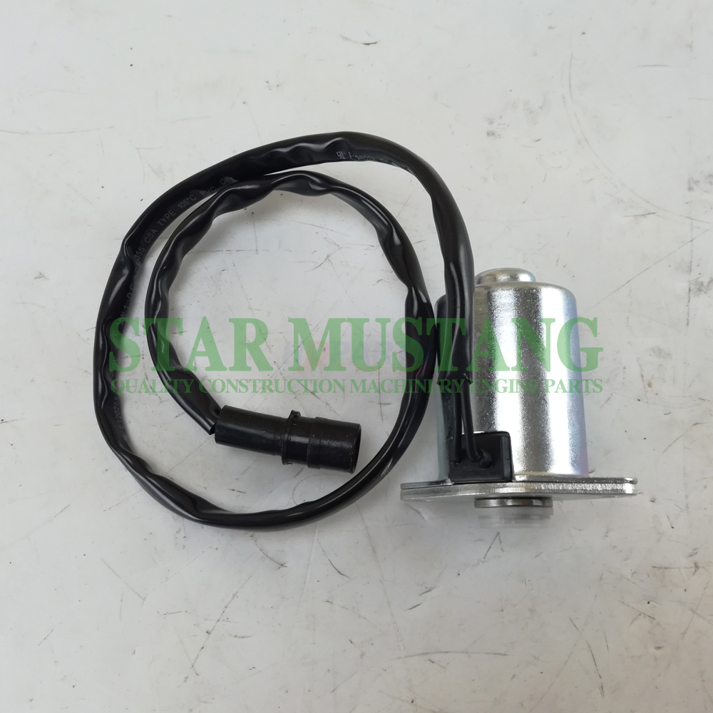 Construction Machinery Diesel Engine Spare Parts Excavator Solenoid Valve 4I-57942 Round Hole