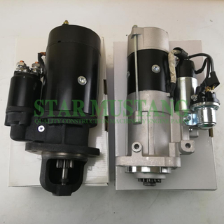 Construction Machinery Diesel Engine Spare Parts Excavator Starter Motor D6D 9T and D7D 12T