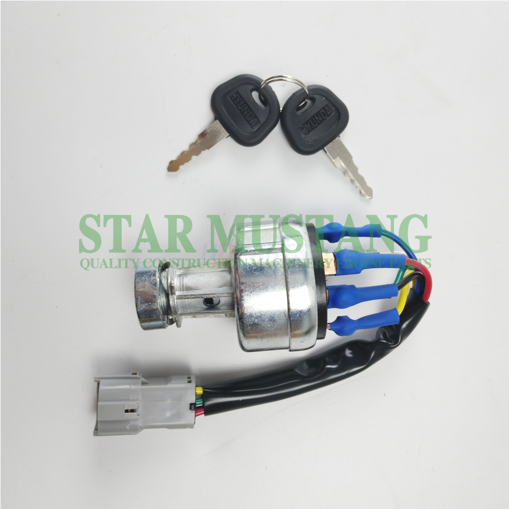 Ignition Switch R210-7 21N4-10400 Excavator Spare Parts For Construction Machinery