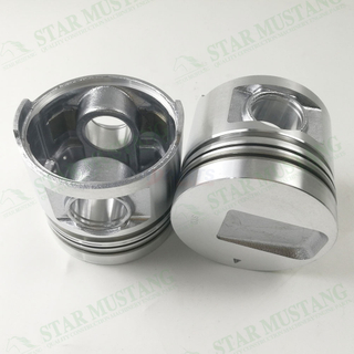 Construction Machinery Excavator Engine S4S Piston With Pin Flat Buttom Oil Ring 4.5mm Repair Parts