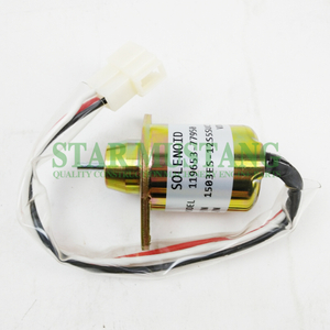 Construction Machinery Excavator HD-4320 Shut Off Solenoid 12V Engine Repair Parts