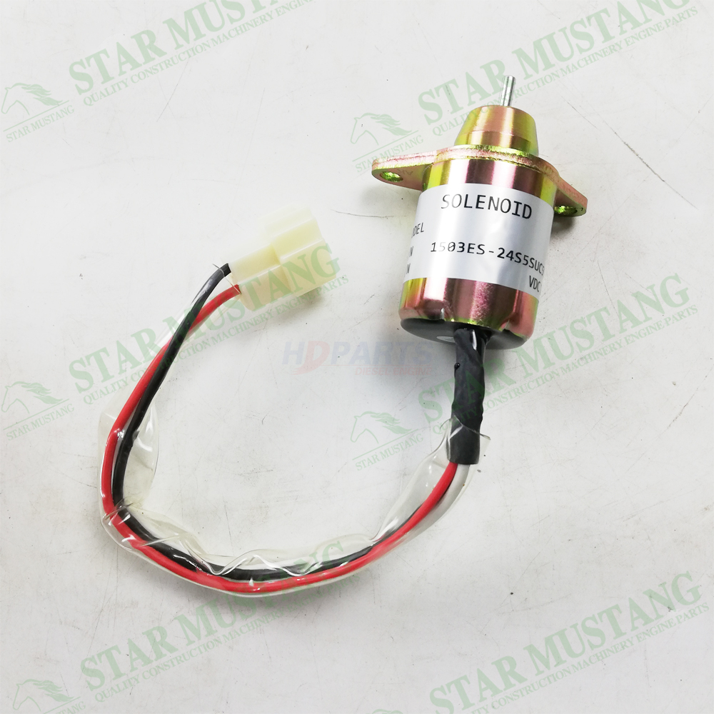 Construction Machinery Excavator 4TNE84 Shut Off Solenoid Engine Repair Parts 1503ES-24S5SUC5S 24V