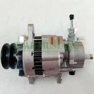 Construction Machinery Diesel Engine Spare Parts Excavator Alternator 6D14 24V 40A with Pump