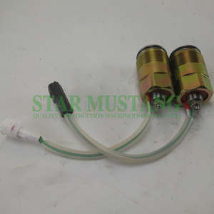 Construction Machinery Diesel Engine Spare Parts Excavator Hydraulic Pump Solenoid Valve K3V112 SK200-6 Black Plug White Plug