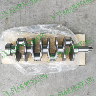 Construction Machinery Excavator W04D Crankshaft Forged Steel 8 Holes Engine Repair Parts