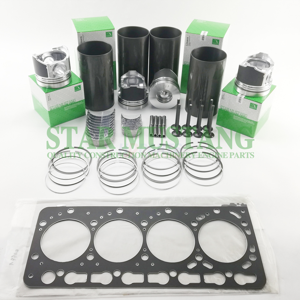 Construction Machinery Excavator V3300 Overhaul Repair Gasket Kit Diesel Engine Piston Liner Repair Parts