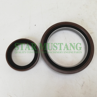 Construction Machinery Excavator Engine Spare Parts Crankshaft Oil Seal Kit 6BG1 With Iron/Metal
