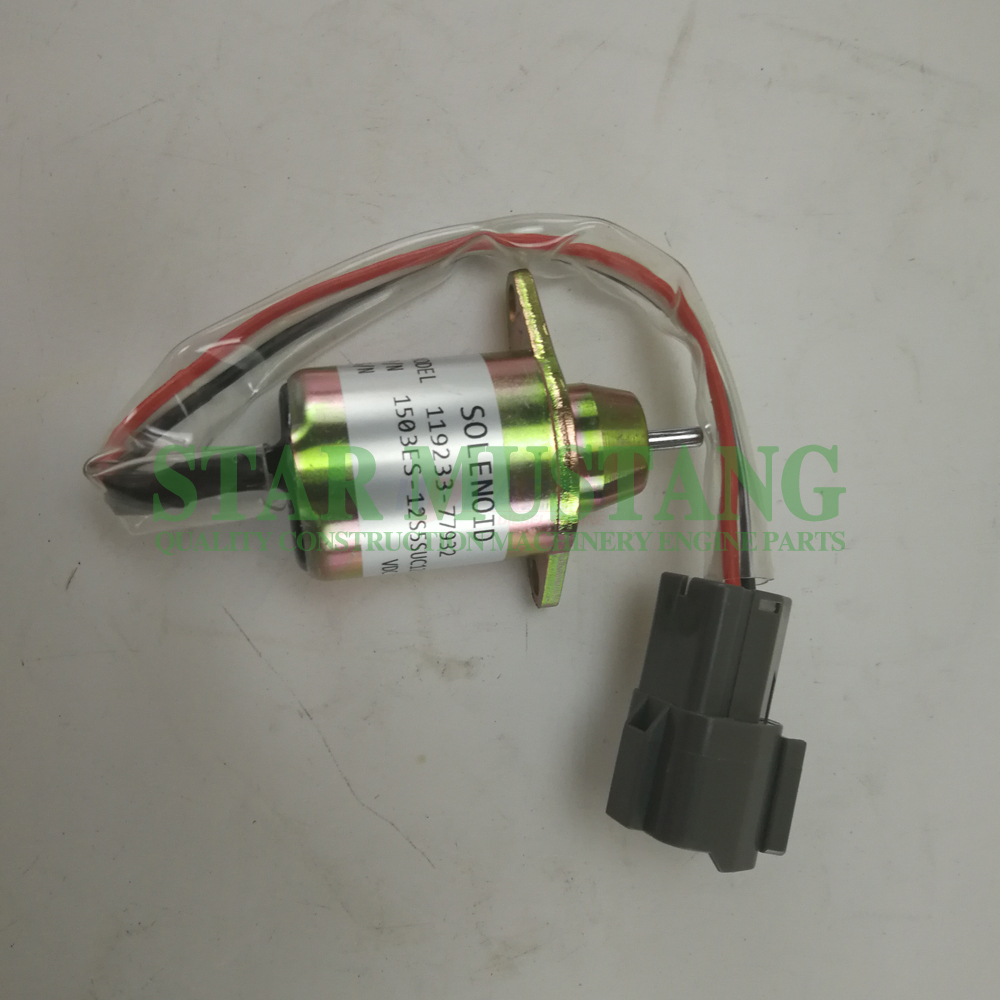 Construction Machinery Diesel Engine Spare Parts Excavator Solenoid Valve 1503ES-12S5SUC12S