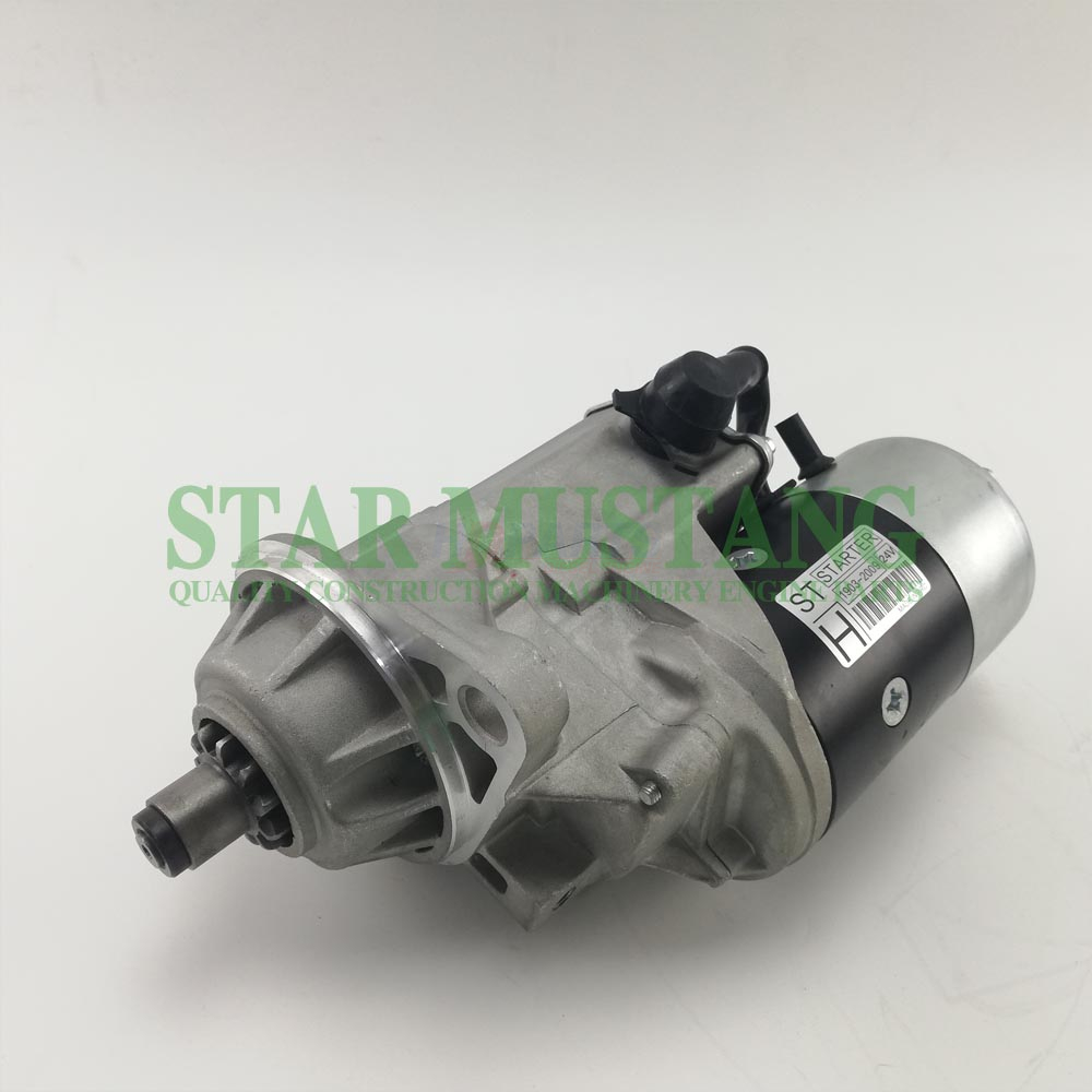 Construction Machinery Diesel Engine Spare Parts Excavator Starter Motor 6HE1 13T 24V
