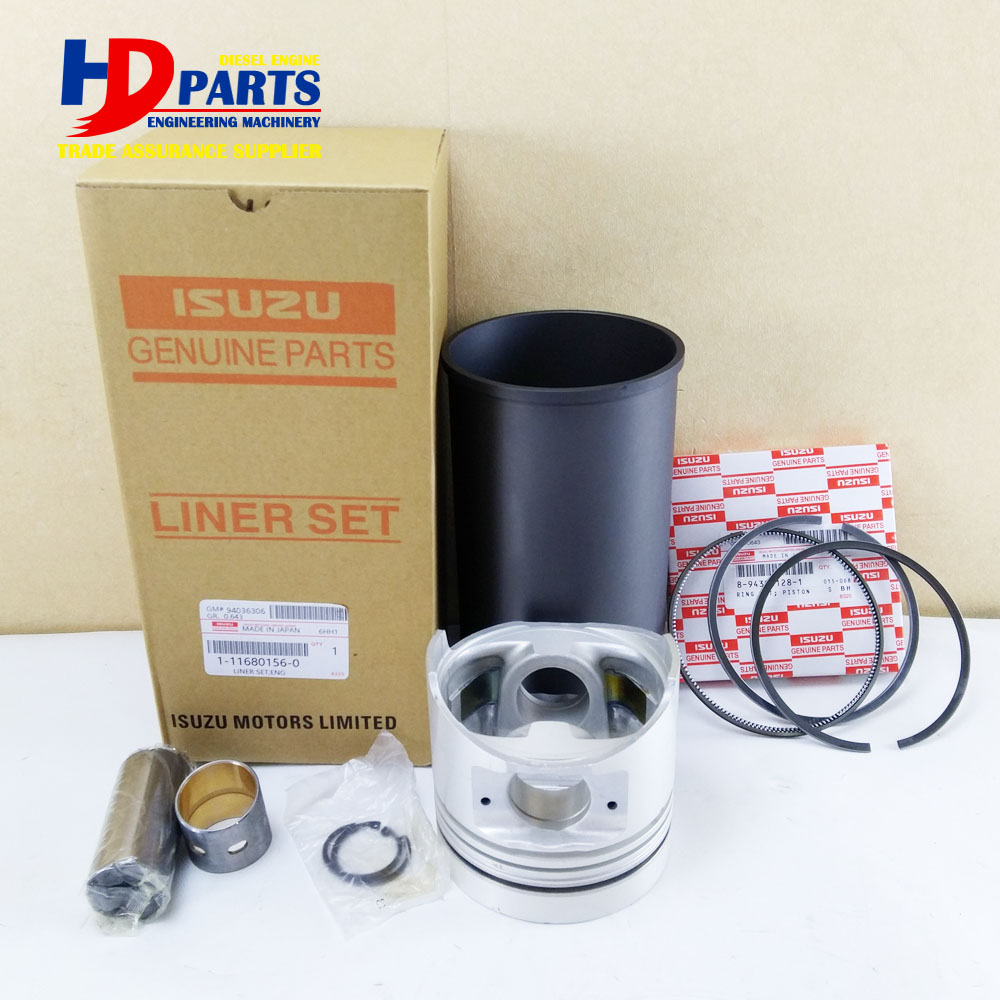 6HH1 Engine Cylinder Liner Kit For Isuzu Excavator Bulldozer Forkift Loader Truck Bus